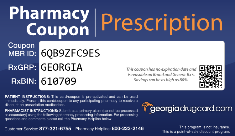 Georgia Drug Card - Free Prescription Drug Coupon Card